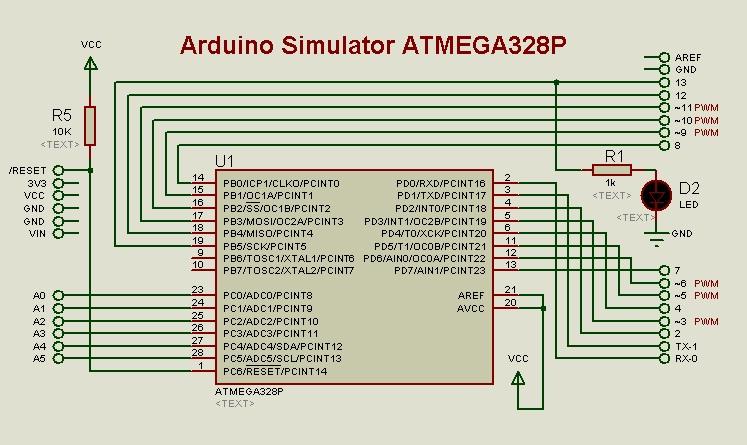 Proteus isis arduino simulator test arduining