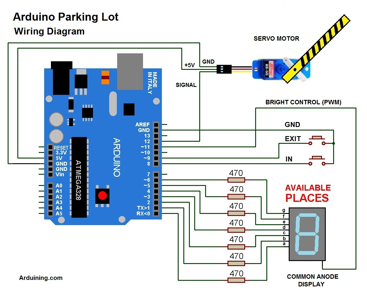 Smart Car Wiring Diagram Tower Diagrams Arduino Parking Lot Filled Arduining Rh Com For Ac