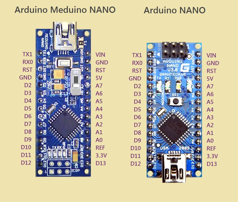 Pinout on arduino nano pin layout