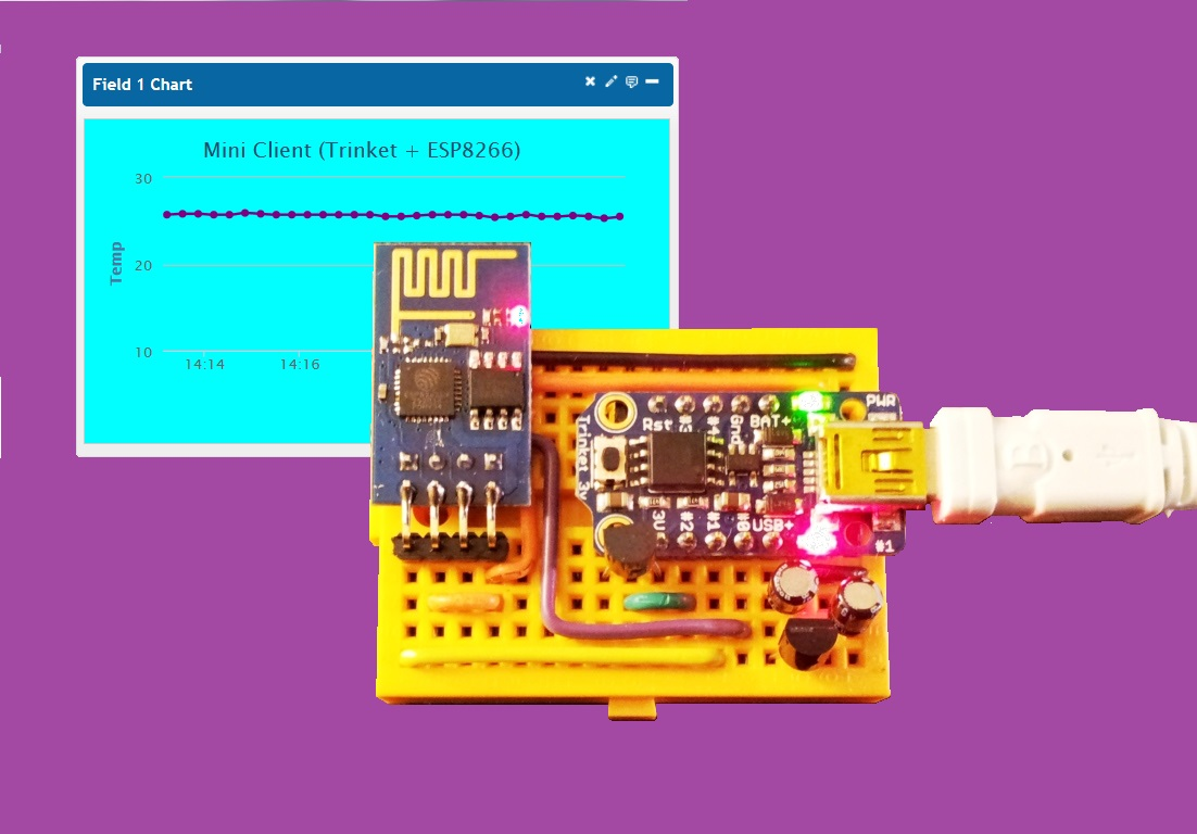 Mini Client with the Arduino TRINKET and the ESP8266 – Arduining