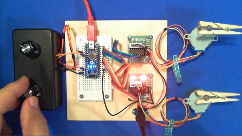 Arduino and two stepper motors arduining for Stepper motor position control