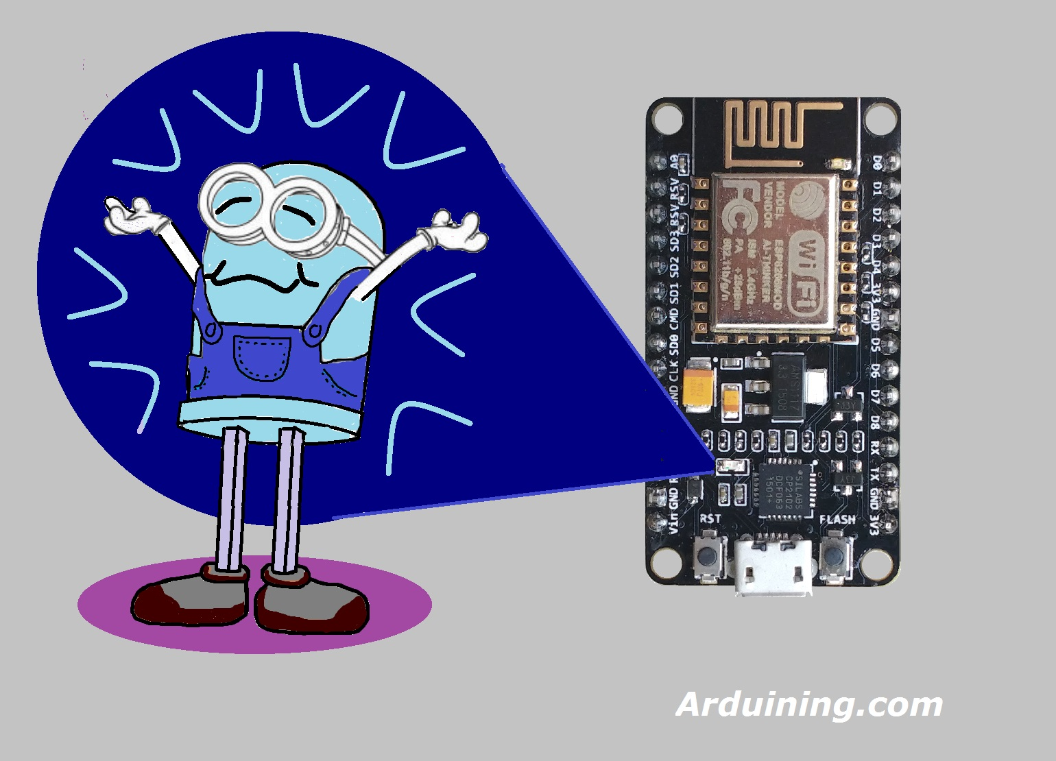 Nodemcu Breathing Led With Arduino Ide Arduining Diagram Wiring Esp8266