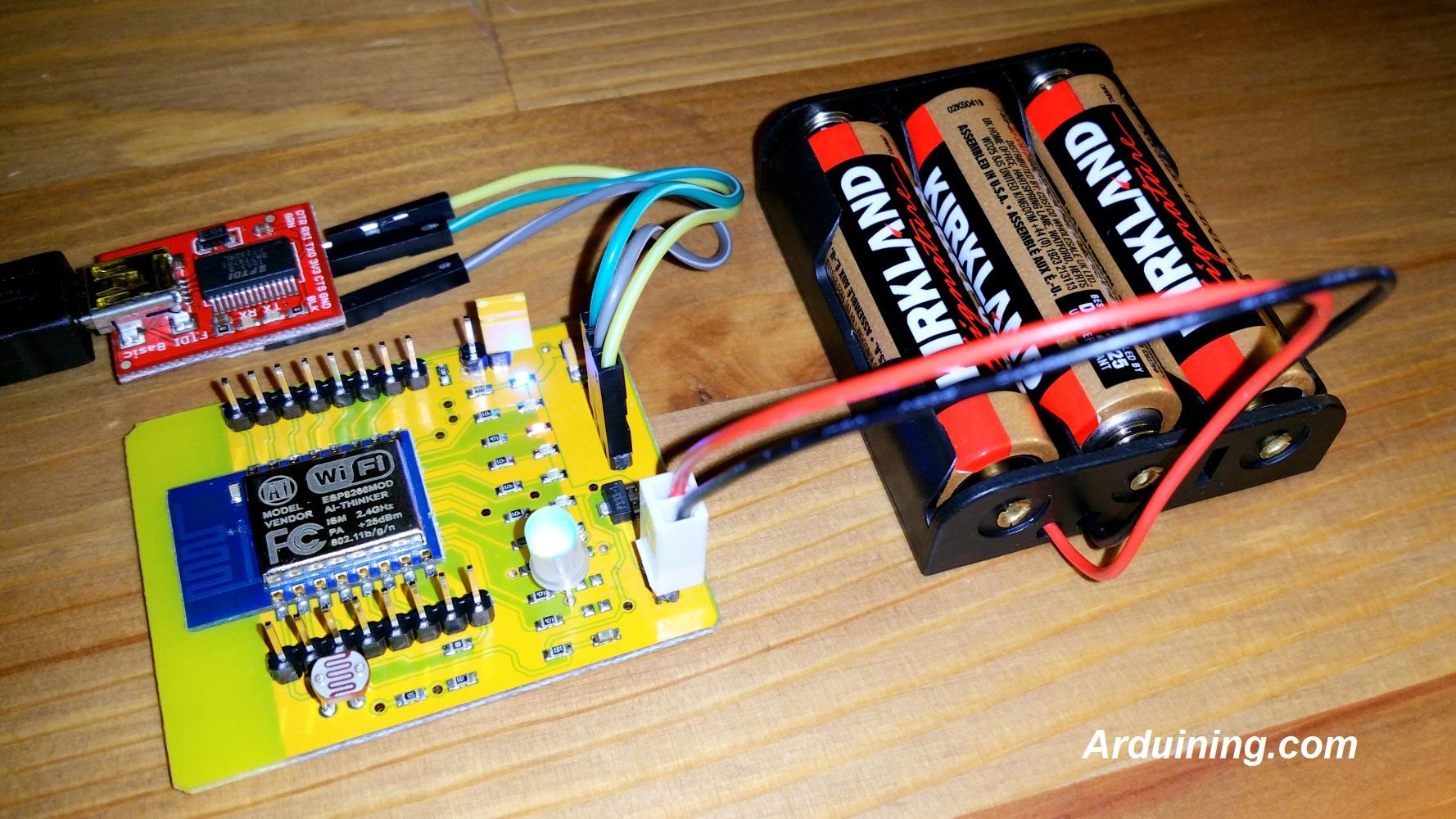 Battery Life of an ESP8266 design – Arduining