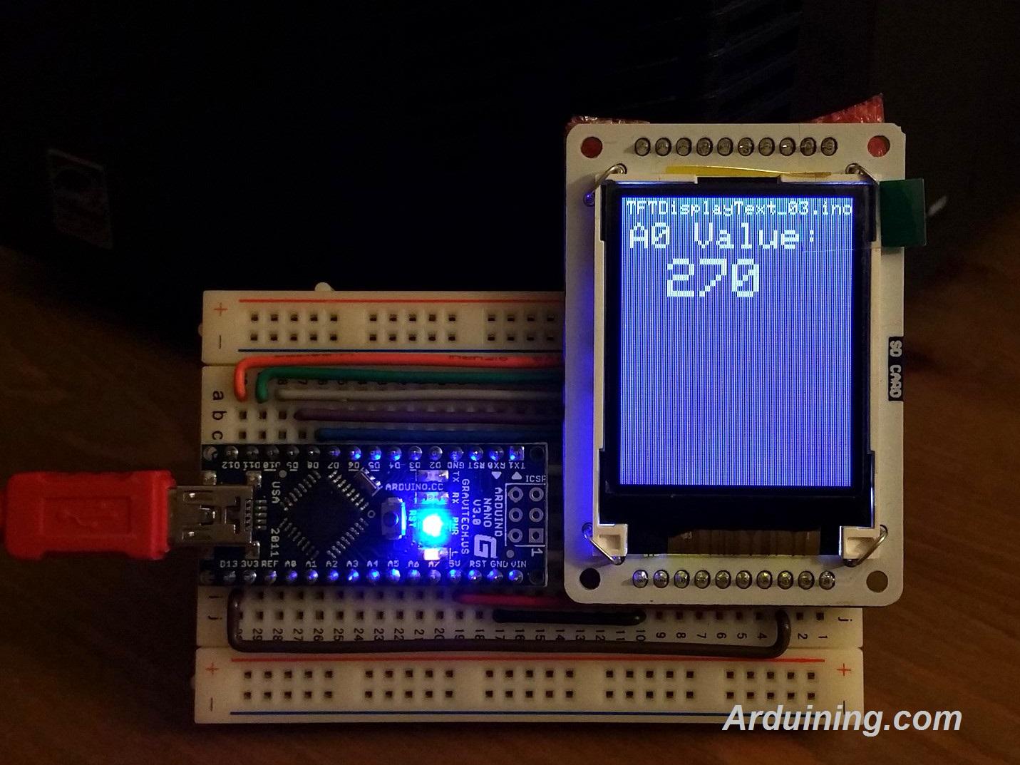 Wiring Tft Display To Arduino Nano  U2013 Arduining