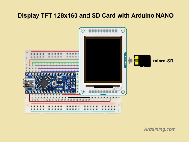 Wiring tft display to arduino nano arduining