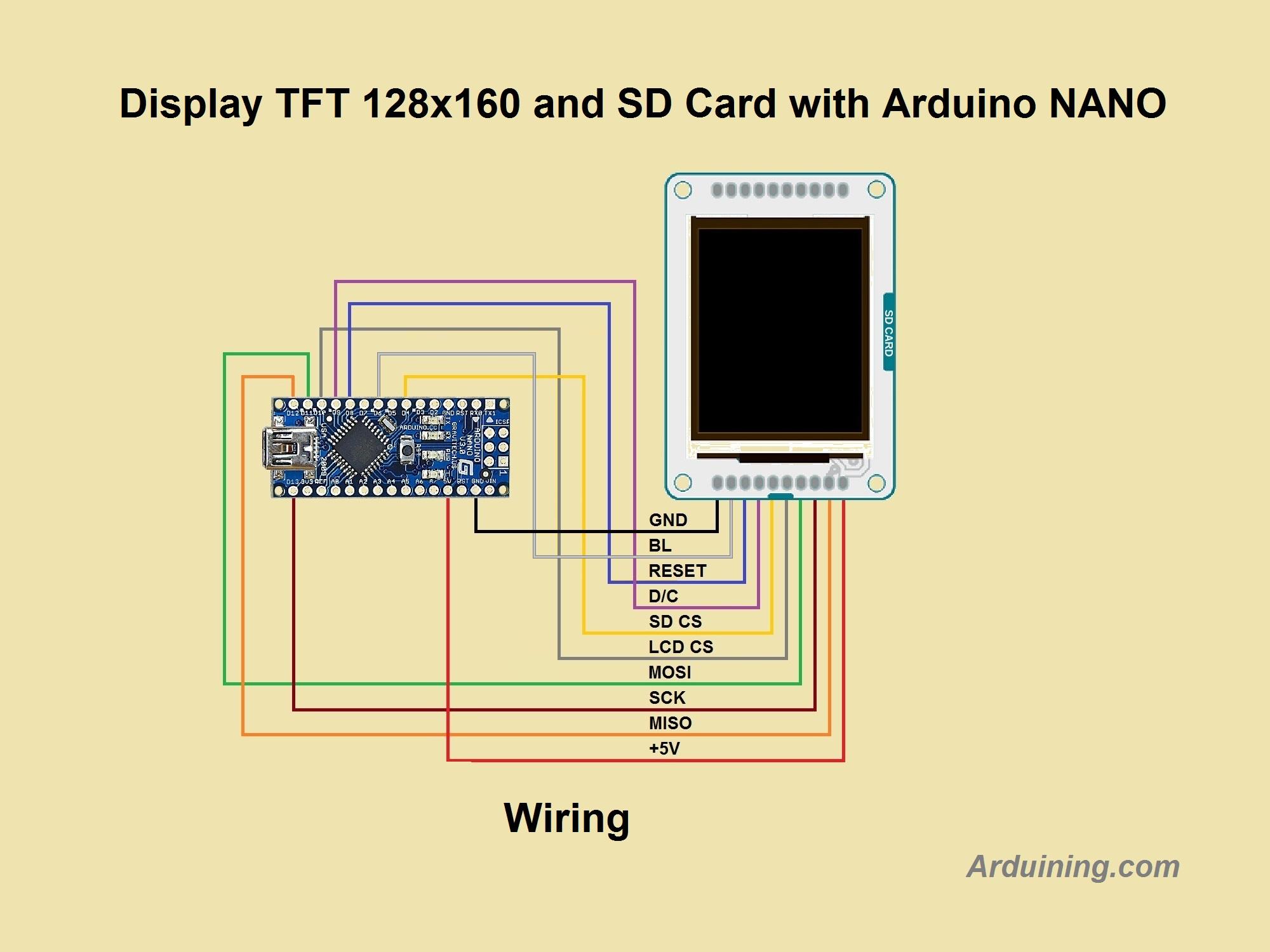 Tft Wiring Diagram Diagrams Schematics 3 Way Switch Arduino Display To Nano Arduining On Building Light