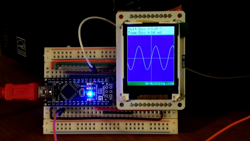 Simple graph with arduino nano and tft library arduining